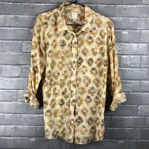 J. Crew The Perfect Shirt- Pattern Shirt Blouse.